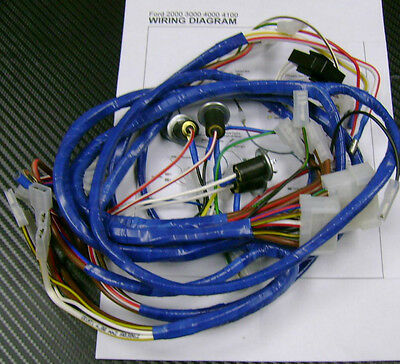 tractor wiring harness ford 2000300040004100 /loom for dynamo type  ebay