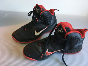 wholesale dealer a4272 05861 Nike 469764 003 Lebron 9 IX Black White Sport Red Miami Heat ...