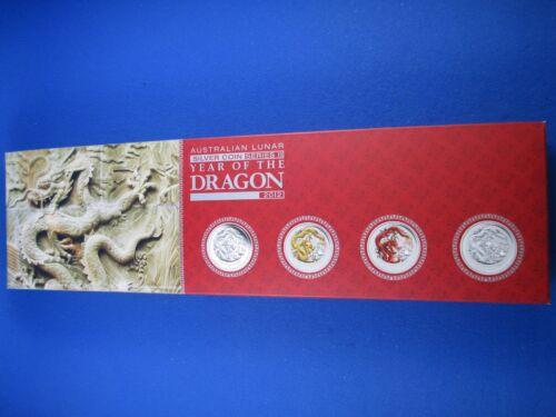 TYPESET COLLECTION 2012 AUSTRALIAN LUNAR SILVER COIN SERIES II THE DRAGON