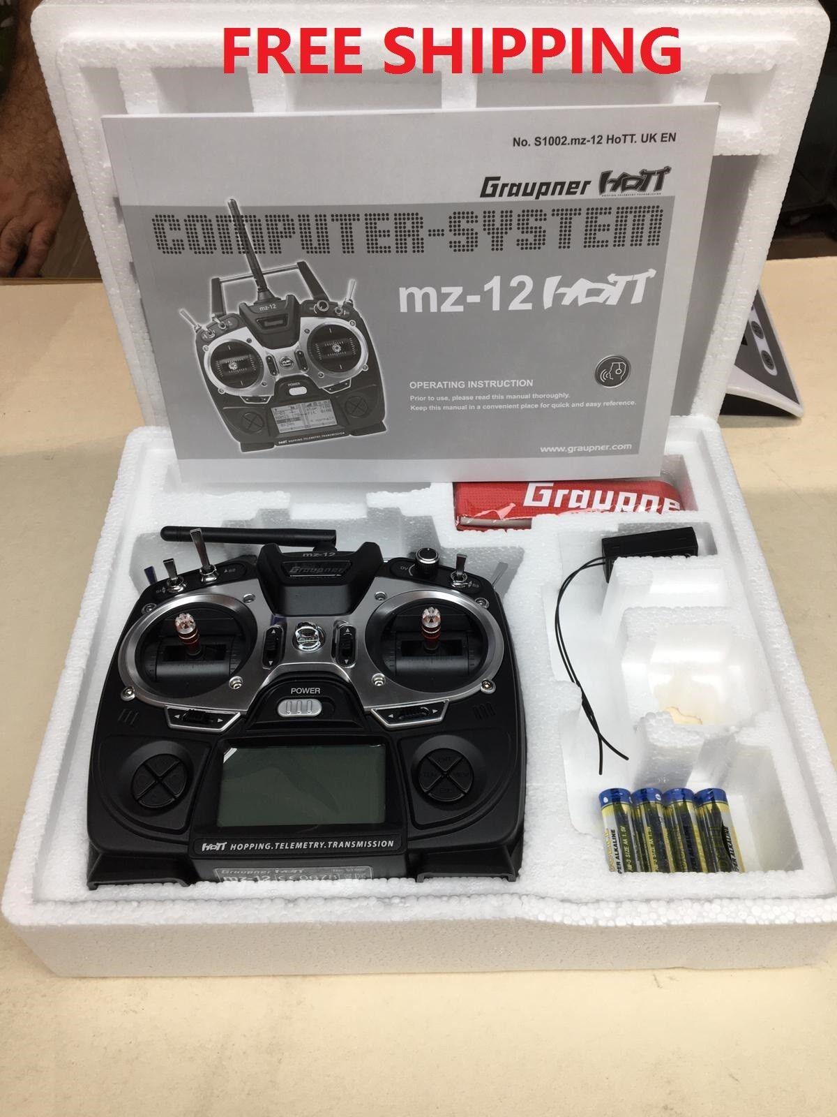 grispner Radio Control mz-12 HoTT 6 canales & Receptor 2.4GHz  Envío Gratis