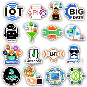 Details about 50 Developer Programming Sticker Java Php Linux Bitcoin Geek  For Laptop Decor