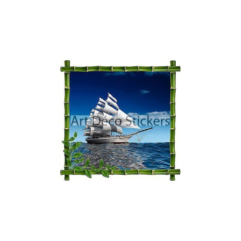 Adhesivo de Parot Decoración Bambú Barco Ref 910
