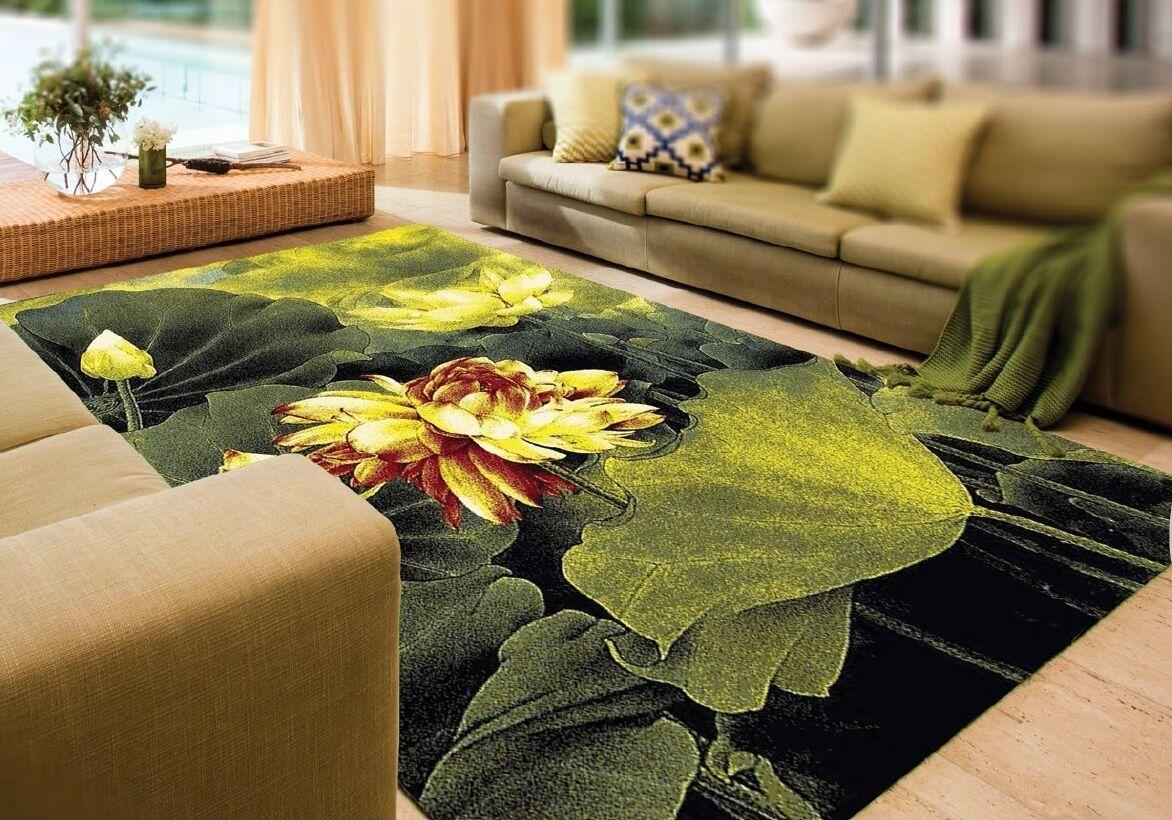 Alfombra, diseño moderno, 200x300 cm, verde, multiColor, lana virgen