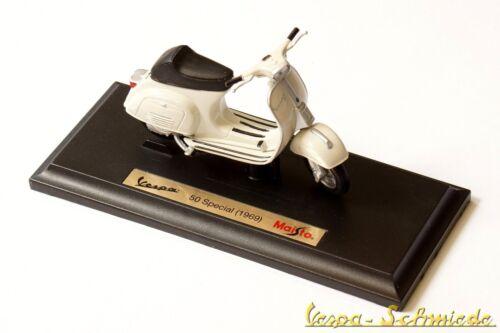 """VESPA Original PIAGGIO Modell /""""50 Special 1969/"""" Maisto V50 50N 1:18 Weiß"""