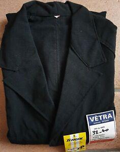 Une blouse de travail noir Villette Tergal Vêtra T 1 38/40 neuve/vintage