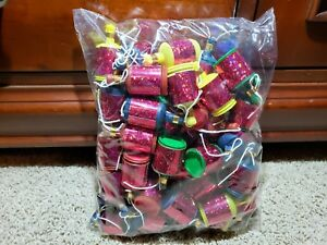 Red-Holographic-Party-Poppers-Bag-of-50-Streamers-Birthdays-Weddings-Bridal