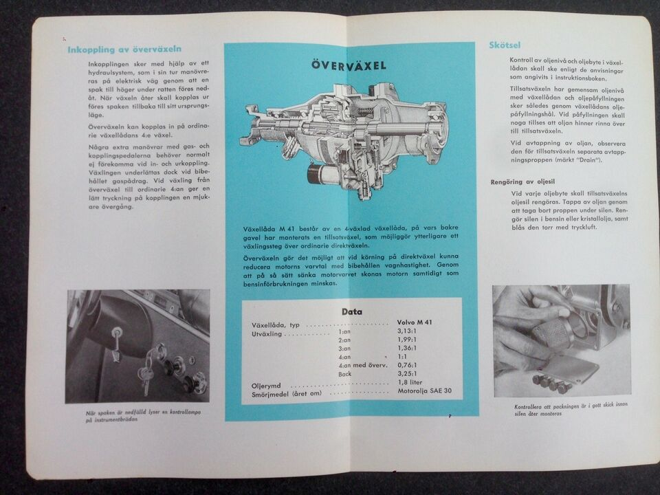 Instruktionsbog, Volvo Amazon