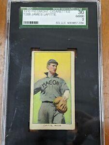 1910 T206 PIEDMONT CIGARETTES - James LaFitte PORTRAIT Card - SGC 30 G 2