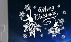 Dancing-Ballerines-Fiocchi-di-Neve-Natale-Adesivo-Finestra-Casa-Decorazioni-Riutilizzabile