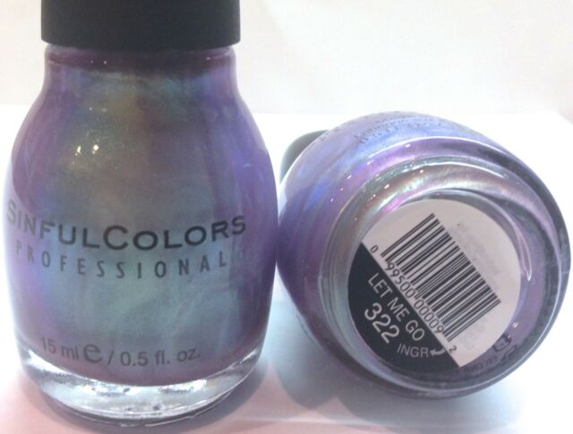 SC SINFUL COLORS PROFESSIONAL NAIL POLISH # 322 OR 815 LET ME GO Iridescent