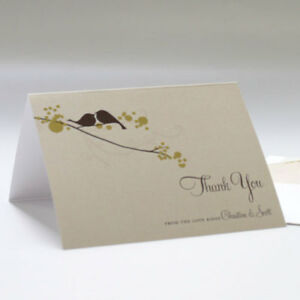 Details About 24 Love Birds Personalized Wedding Thank You Notes