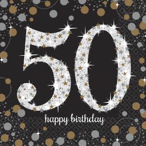 50 Geburtstag Party Servietten Amscan Motivservietten Tisch Deko