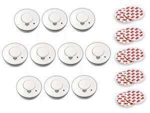 10er-Set-Rauchmelder-mit-Magnethalter-Feueralarm-Rauchalarm-Feuermelder-Magnet