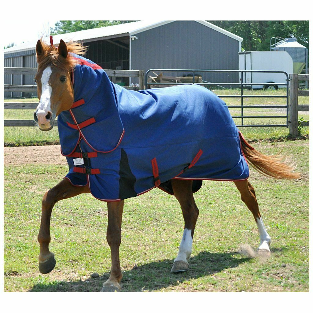 Tuffrider Bonum Blau   rot 1200D Winter Horse Turnout Combo Blanket 220 gr. fill
