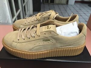 Image is loading New-Womens-Puma-Rihanna-Suede-Creepers-Triple-Oatmeal- d76653c11