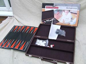 Galerie-Nouveau-Jeu-Coffret-Backgammon-Set-couvert-de-cas-regles-pliable-Play-Board