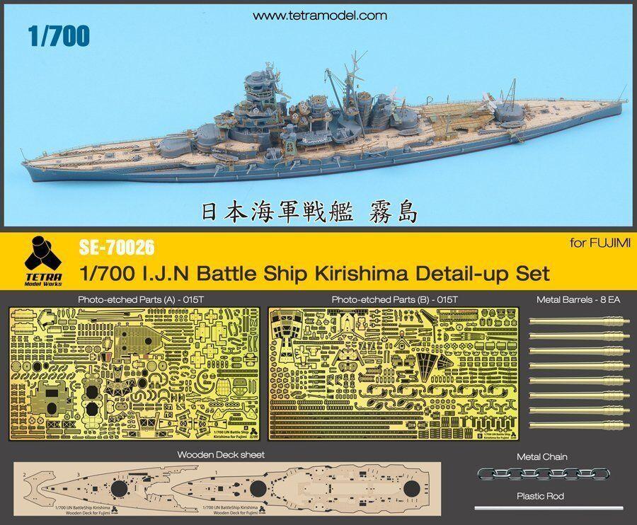 Tetra Model 1 700  SE-70026 IJN Battleship Kirishima Detail Up Set for Fujimi