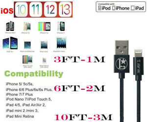 USB Braided Cord For iPhone 6S 7 8 Plus iPhone X Xs Xr 11 iphone Charger Cable