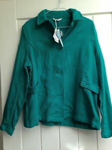 BNWT WOMENS TULCHAN PLUS SIZE UK 18 GREEN SMART/CASUAL SUIT JACKET BLAZER COAT