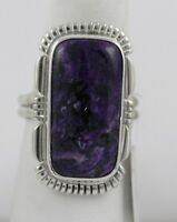 Navajo Indian Ring Sugilite Purple Size 8 Sterling Silver Jeffery Nelson