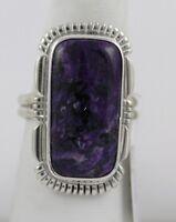 Navajo Indian Ring Sugilite Purple Size 8 Sterling Silver Jeffery Nelson