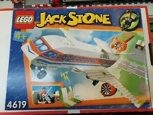 Lego-4619-Jack-Stone-Forschungsflugzeug-64-Teile-Karton-beschaedigt