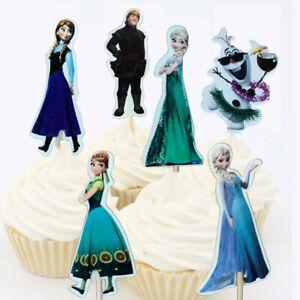 12pcs Frozen Cupcake Topper Elsa Anna Olaf Kristoff Movie