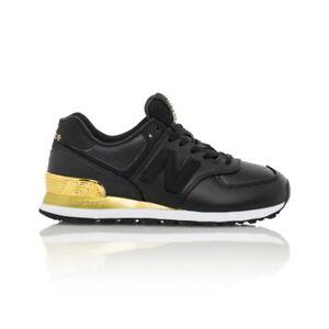 6b67b0f82f961 Details about New Balance 574 Classics (Gold Dip) Women's shoe -  Black/Metallic Gold