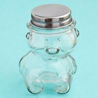 40 Plain / Diy Glass Teddy Bear Jars Baby Shower Favors