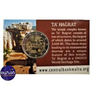 Coincard-2-euros-commemorative-MALTE-2019-Ta-039-Hagrat-Mintmark-Monnaie-de-Paris