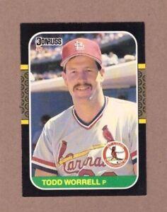 Details About 1987 Donruss Baseball Card 307 Todd Worrell Cardinals