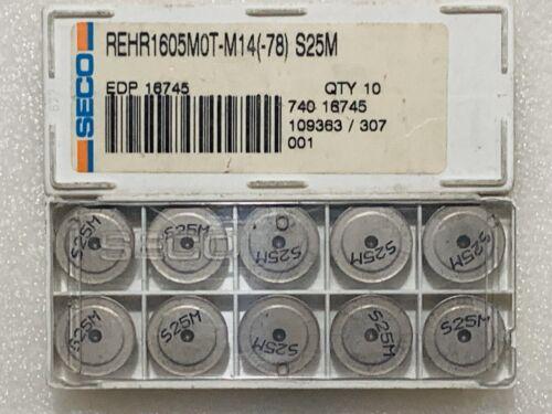 -78 S25M CARBIDE MILLING INSERTS 1 BOX SECO REHR1605M0T-M14 10 PCS NEW