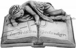 Gru-a-Benna-Testo-in-Stillem-Commemorare-Pietra-Statua-Decorativa-Libro-Meteo
