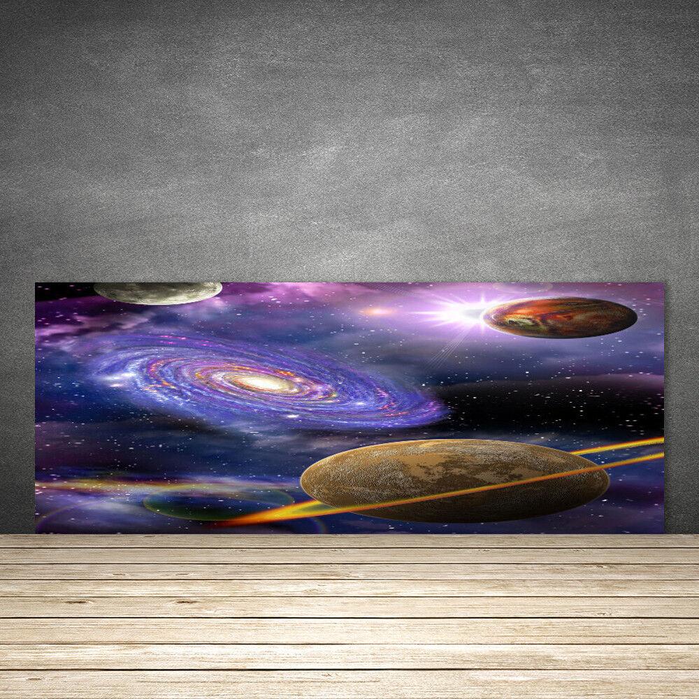 Crédence de cuisine en verre Panneau 125x50 Univers Univers