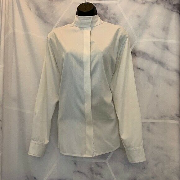Tailored Sportsman Coolmax Equestrian Show Shirt - White  - Size 40 - EUC  supply quality product
