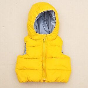 Baby Gap Hooded Puffer Vest Mustard Yellow Size 6 12 Boys