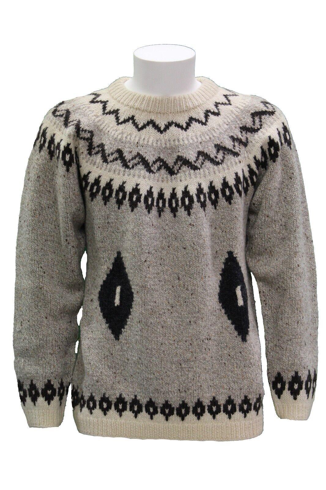 Maglione da uomo beige Invicta manica lunga girocollo casual moda lana