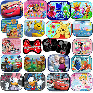 Disney-CAR-WINDOW-SUNSHADES-MESH-BABY-BOY-GIRL-KIDS-CHILDREN-New-Designs