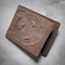 97717-16VM - Harley-Davidson Mens Eagle B&S Distressed Brown Leather Wallet