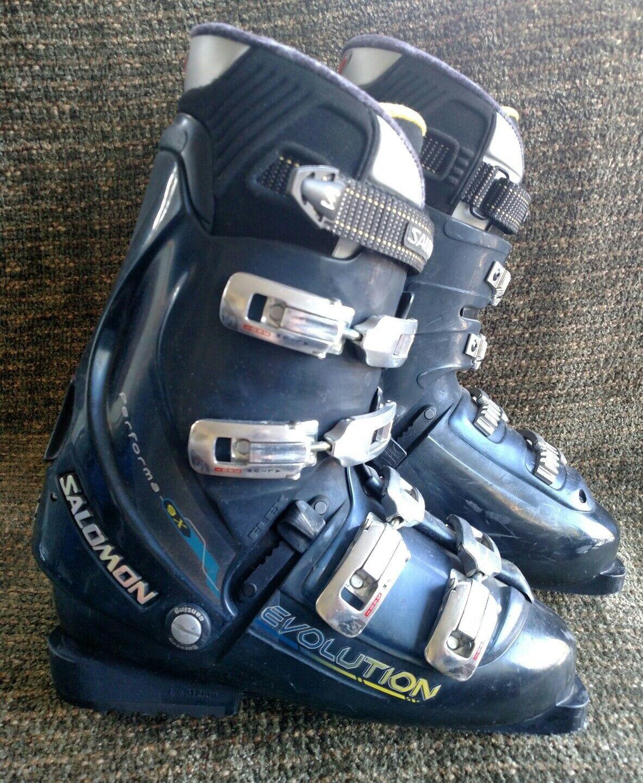 Salomon Evolution Performa 9X bluee 312mm ski boots size  9 US men's  high quality genuine