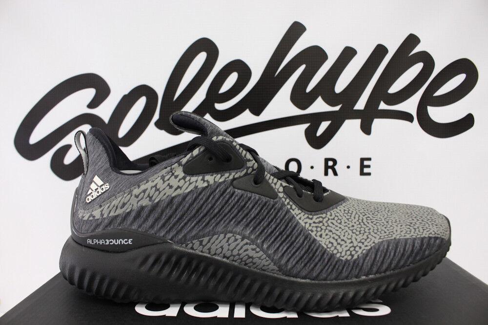 Adidas alphabounce hpc ams nucleo nero corsa riflettente 3m scarpe da corsa nero da9561 sz - 9 aab419