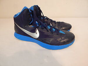 buy online fc3e2 94aac Details about Mens tennis Casual Hi top shoes size 11.5 NIKE Basketball  652775-404 Blue Lunar