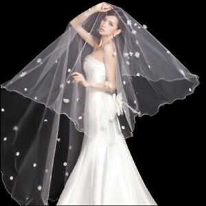 1-Layer-Pearl-Veil-Wedding-Bridal-Veils-Cathedral-2-6M-Vail-Without-Comb