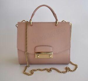 0f6efd5d7900 FURLA  JULIA  Mini Top Handle SAFFIANO LEATHER Rose Shoulder Bag ...