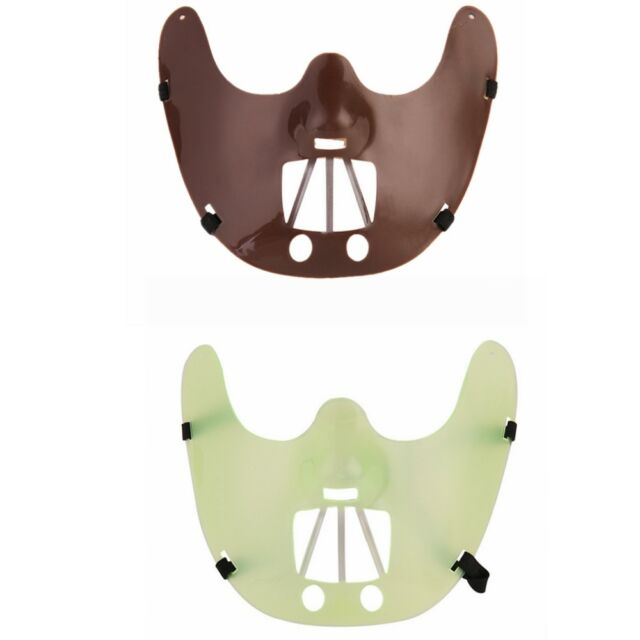 BROWN PLASTIC RESTRAINT MASK HANNIBAL LECTER ADULT HALLOWEEN COSTUME ACCESSORY