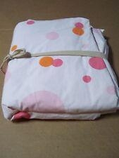 Pottery Barn Teen Kids Bubble Dot Bed Duvet Cover Full Queen FQ Pink Orange