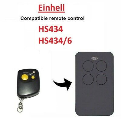434 Mhz Handsender Fernbedienung kompatibel zu Einhell Garagentor HS 434//6
