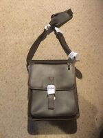 Wilson Leather Crazy Horse Leather Tablet Bag. Brown Leather.
