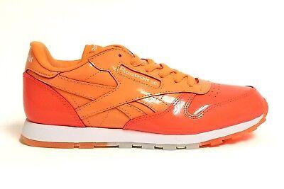 Reebok Big Kid's CLASSIC LEATHER DESSERT PACK Shoes OrangeWhite BS7243 b | eBay