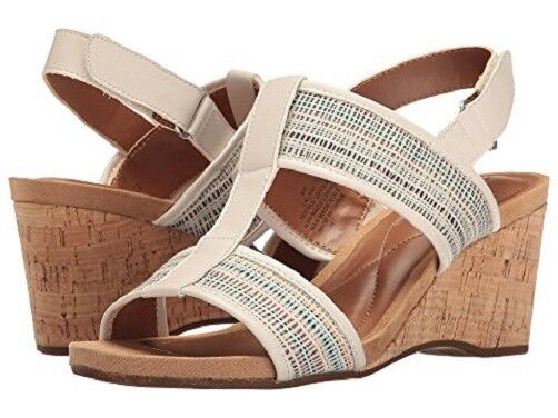 Easy Easy Easy Spirit Lalani wedge sandals off white print 3